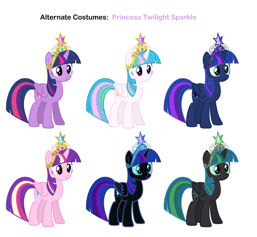 Princess twilight sparkle in alternate costumes mlp my - Princesse poney ...