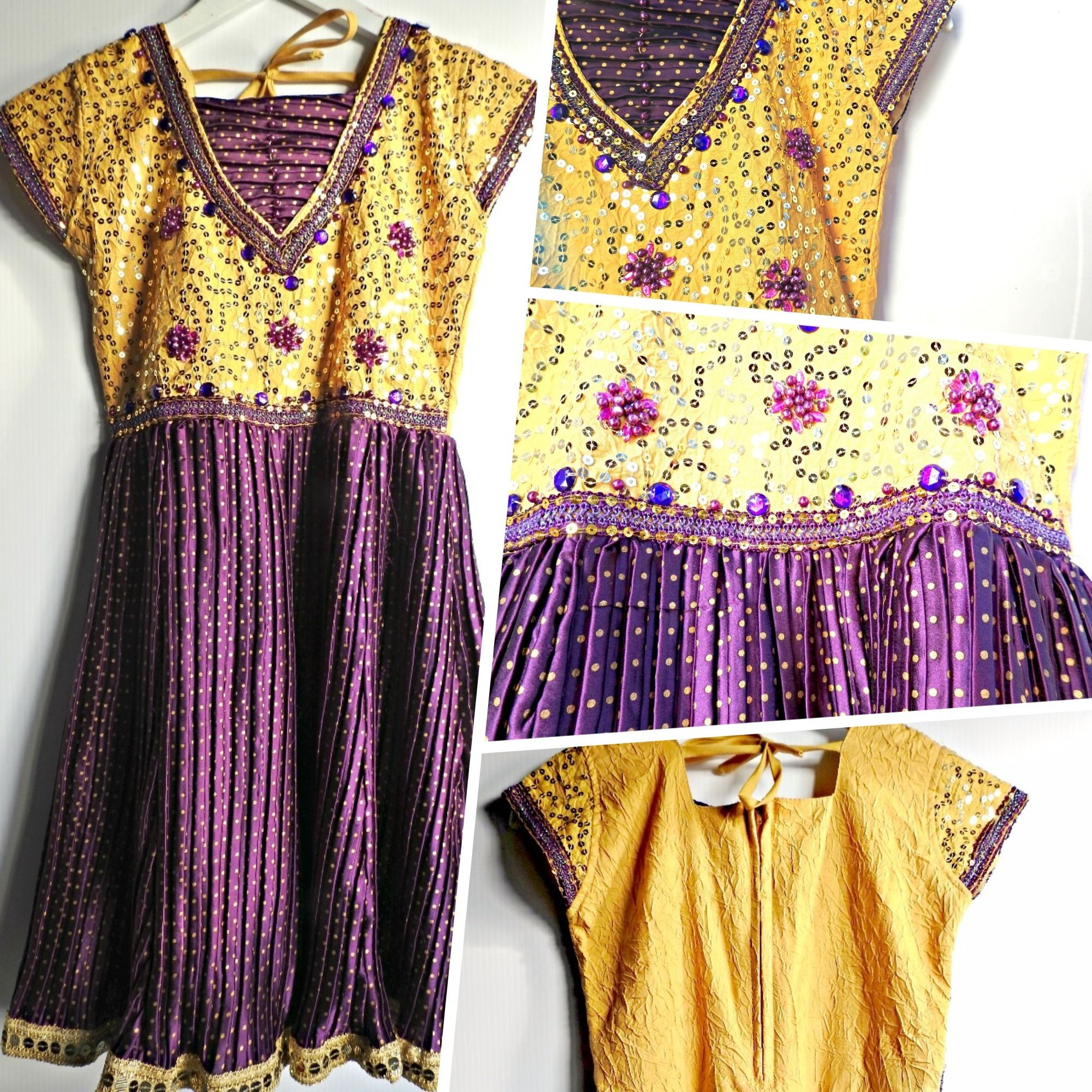 This short beaded dress is both fresh and ultra chic ...