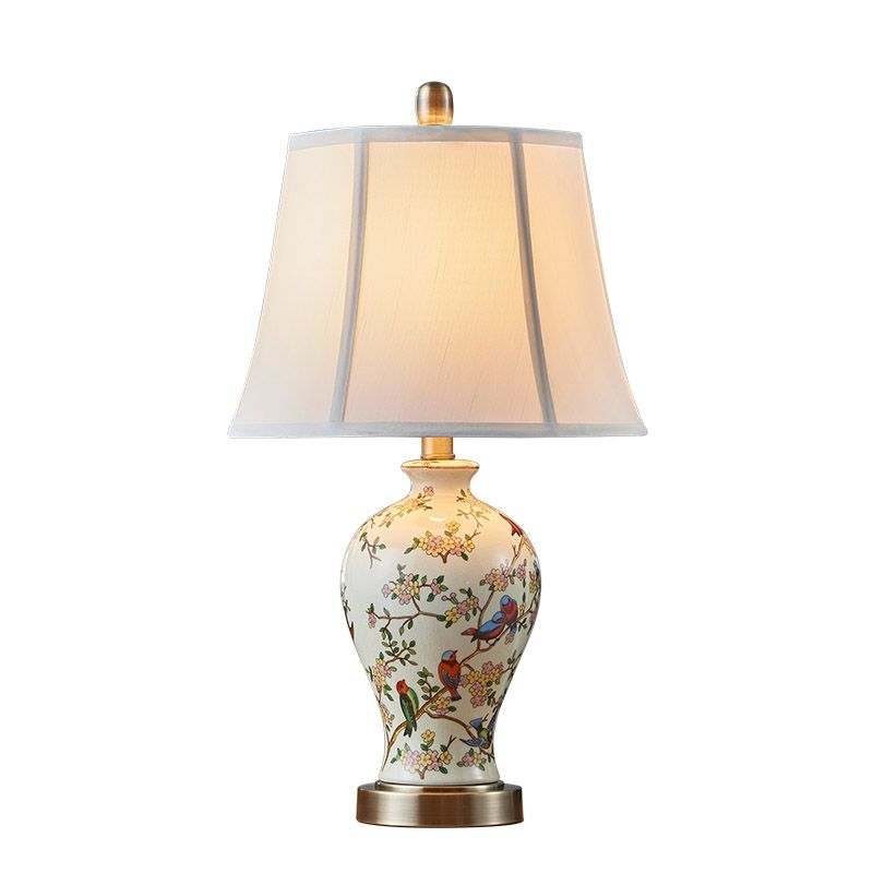 Hand Painted Art Ceramic Table Lamp Bedroom Bedside Lamp New