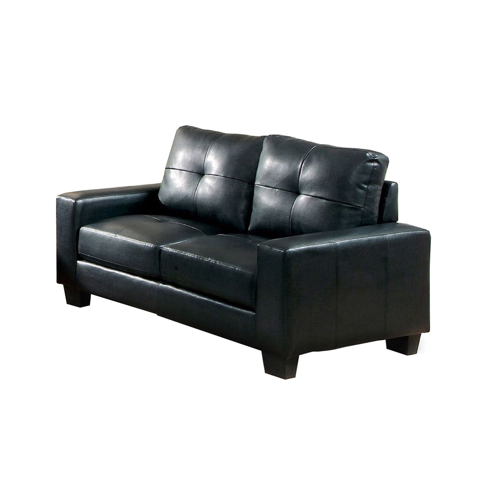 Super Furniture Of America Boris Modern Black Bonded Leather Match Caraccident5 Cool Chair Designs And Ideas Caraccident5Info