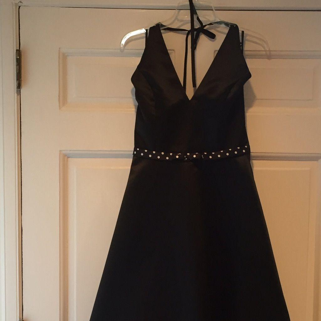 Black Tea Length Jessica Mcclintock Halter Dress