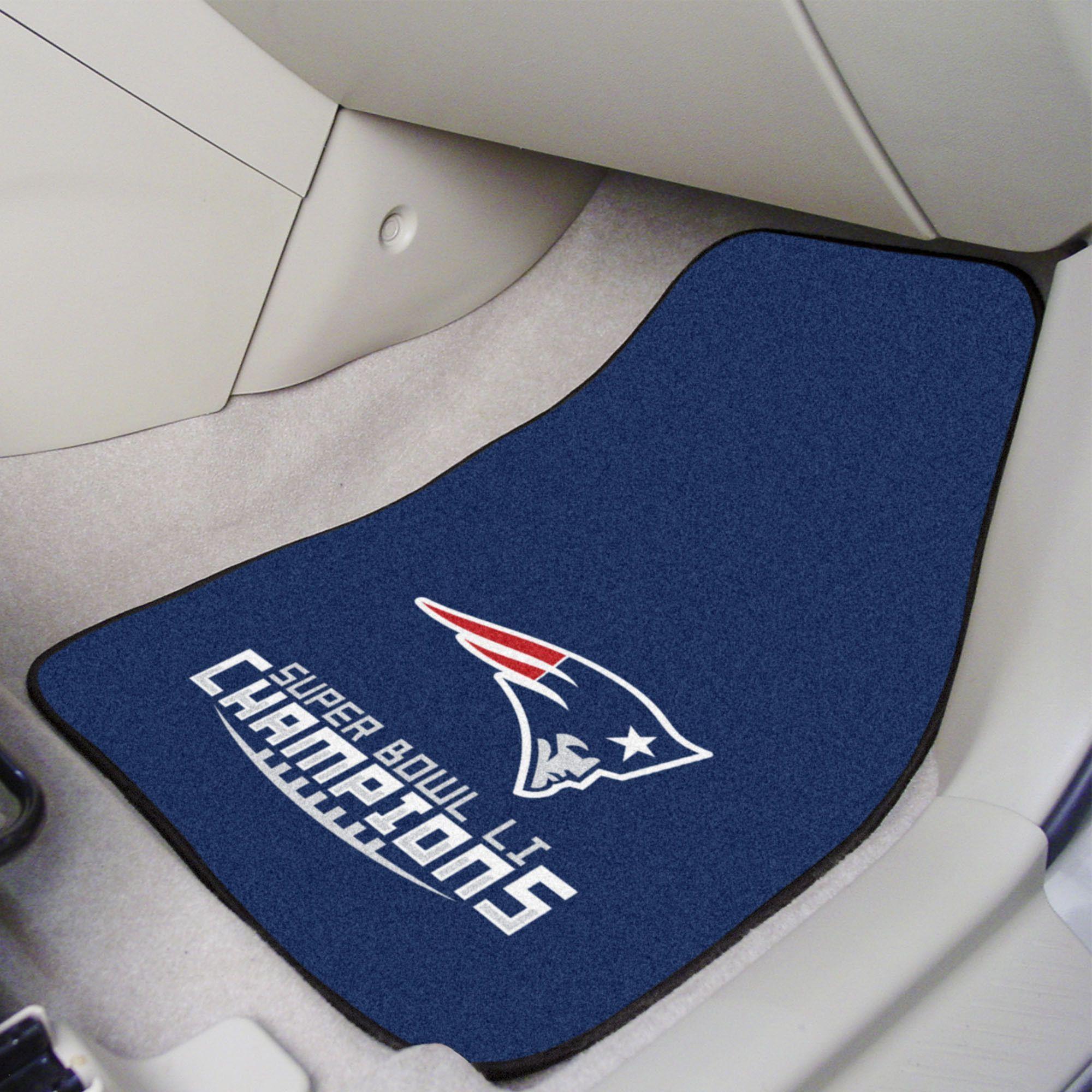 New England Patriots Super Bowl LI Champions 2 Piece Carpeted Cat Mats 18x27