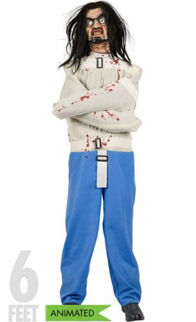 make your halloween insane with our animated asylum patient animate asylum patient features a realistic face and straitjacket and grunts and moves when - How To Make Animated Halloween Props