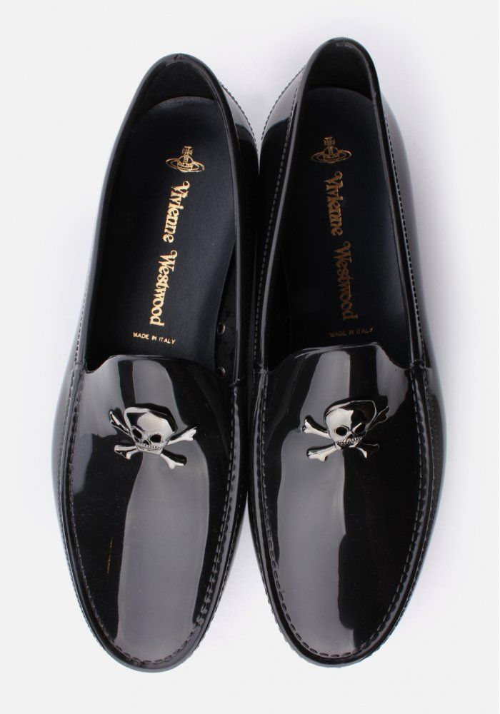 best loved b02f0 dff79 Vivienne Westwood Skull  Crossbone Mens Moccassin Black