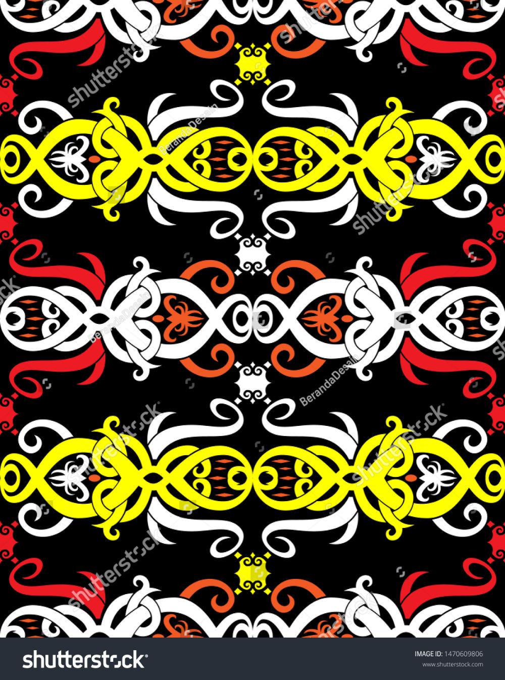 Background Motif Dayak : background, motif, dayak, Borneo, Dayak, Pattern, Borneo,, Gambar,, Teknik, Menggambar