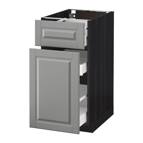METOD   MAXIMERA Unterschrank mit Auszug Schublade - Bodbyn grau - ikea küchen unterschränke