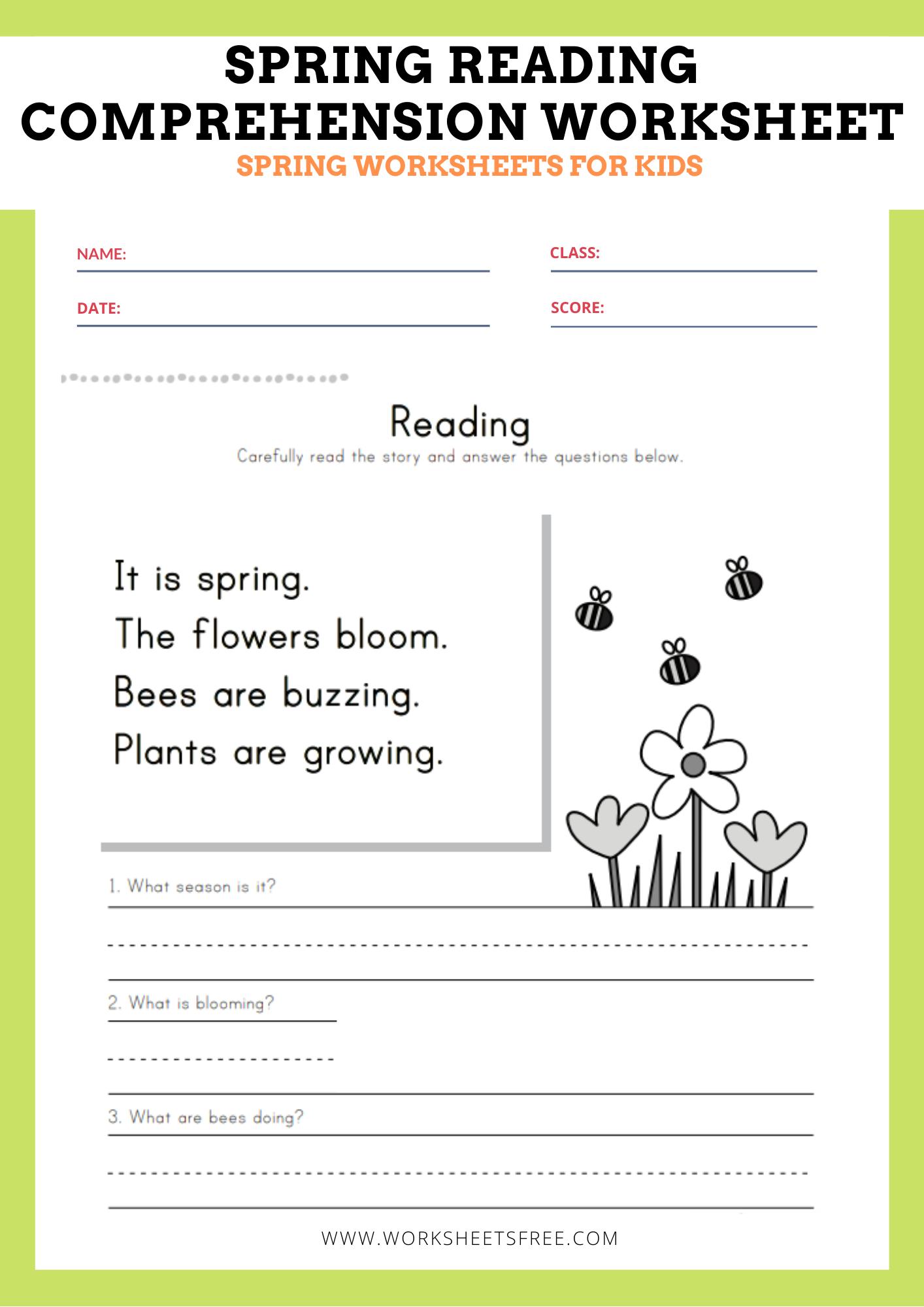 10 Spring Worksheets Words Workhardtrainharder