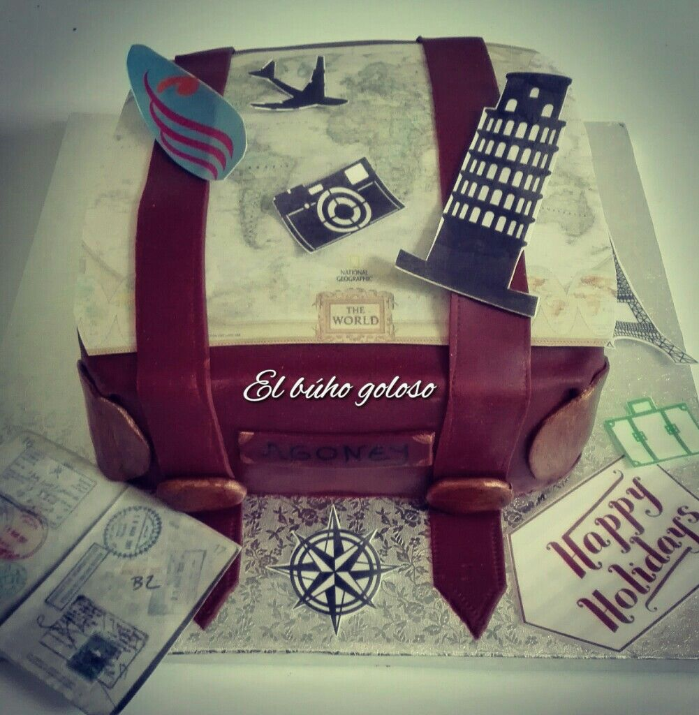 #tartaviaje #maleta #fondat #viajes #reposteria #hechoamano #handmade #travel #mapamundi #vintage #elbuhogoloso