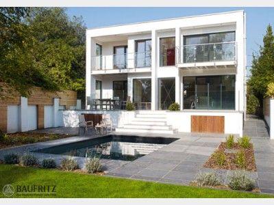 Stadtvilla modern mit balkon  Bauhaus Jackson - #Einfamilienhaus von Baufritz | HausXXL #modern ...