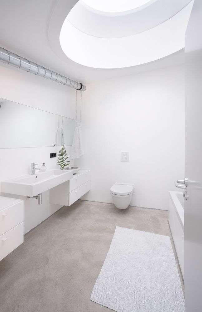 Bathroom Concrete Floor, Concrete Floor Bathroom Ideas