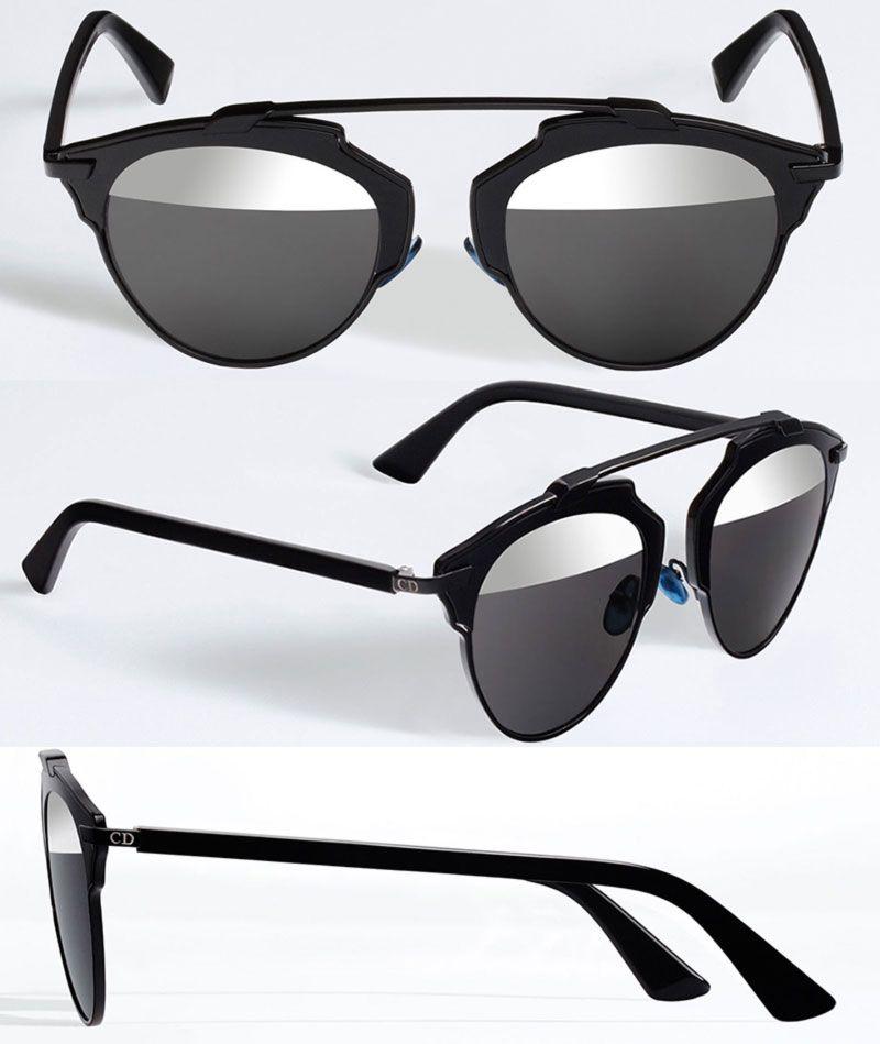 Christian Dior New Sunglasses Soreal Black Mirror
