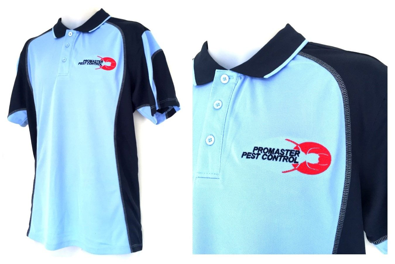 This polo shirt design was created for pro master pest for Design your own polo shirts