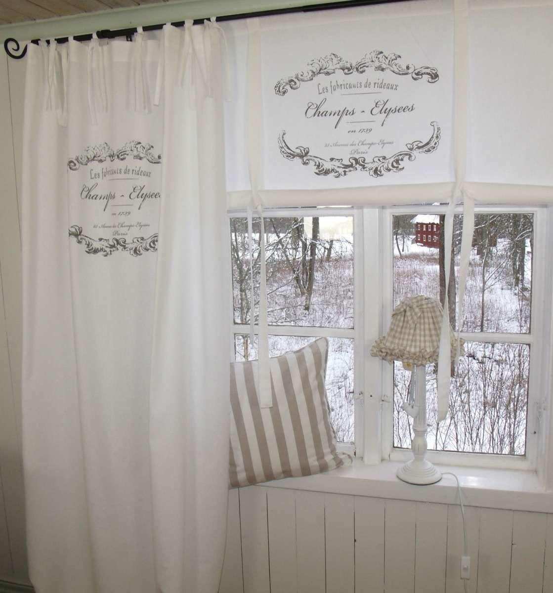 Vorhang Elegance Weiss Osen Gardine 120x240 Cm 2 Stuck Baumwolle Landhaus Vintage Vorhange Gardinen Gardinen Ideen