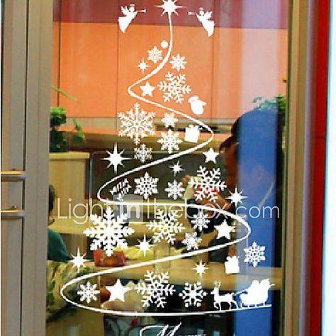 Pellicola per finestre e adesivi decorazione classico alberi foglie pvc vinile adesivo per - Adesivi natalizi per finestre ...
