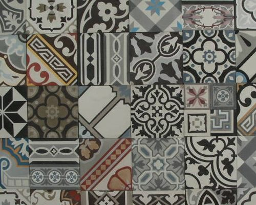 Portugese Tegels Patchwork : Patchwork portugese tegels cm keuken