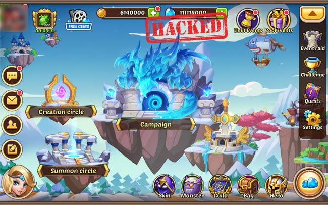 Pin by Jason Purcell on Idle Heroes hack | Free gems, Hero