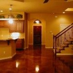 Cool Modern Look Acid Stained Concrete Basement Floors Ideas for Interior Decoration in Modern House