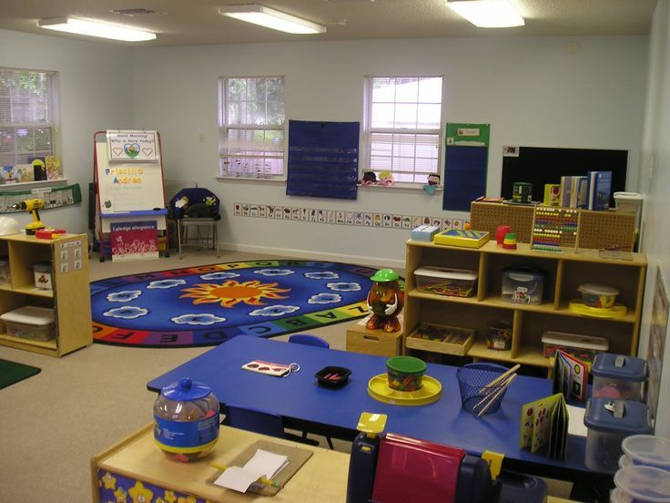 Classroom Design Description ~ Preschool classroom arrangement love the rainbow table