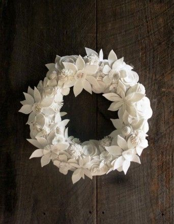 The Purl Bee - felt wreath