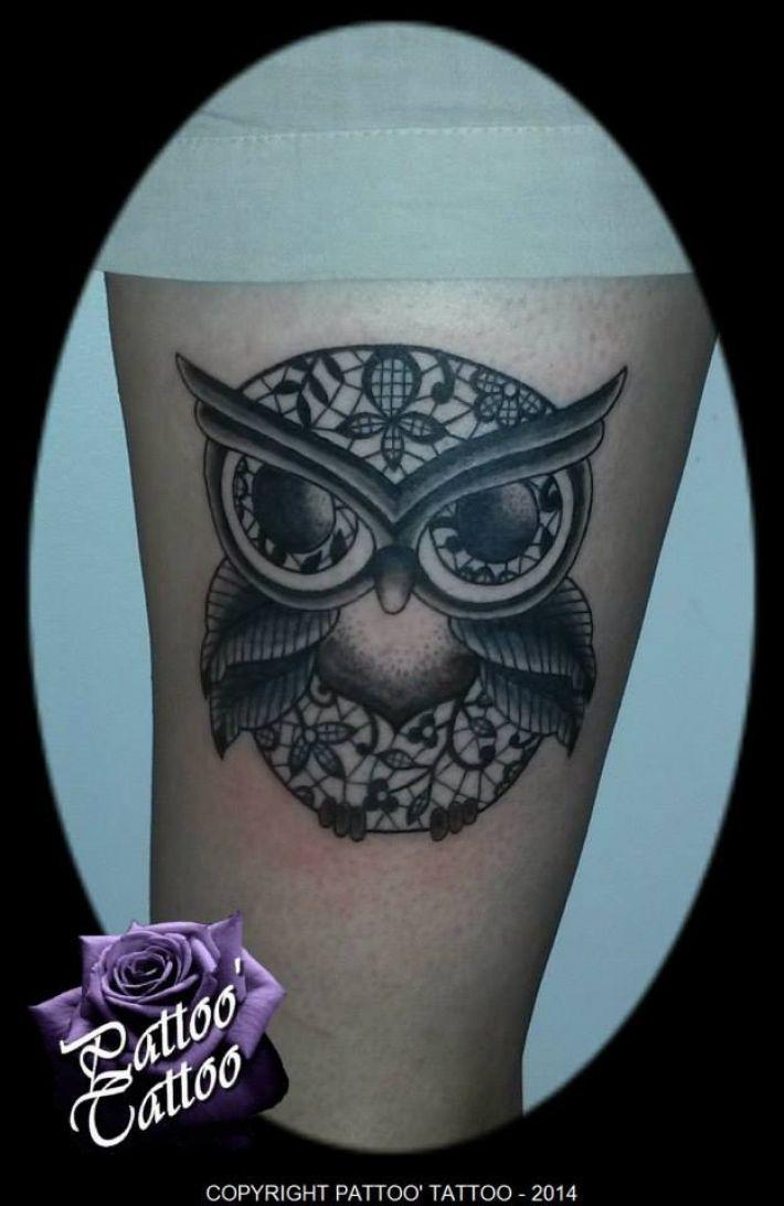 le dermographe original photo de tatouage 3515 chouette ornementale art nouveau chouette. Black Bedroom Furniture Sets. Home Design Ideas