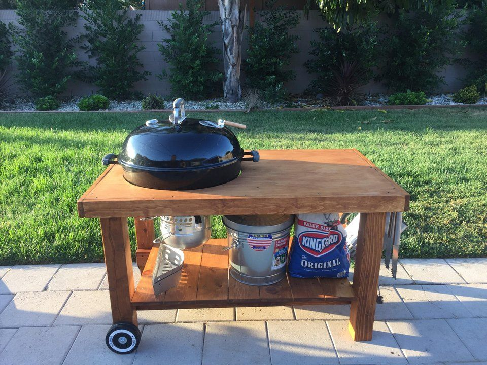 Weber Kettle Table Diy Bbq Grill Table Diy Table Bbq Table