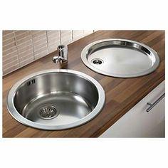 Pyramis Stainless Steel Reversible Round Bowl Kitchen Sink Tap Pack Stainless Steel Kitchen Sink Kitchen Sink Design Kitchen Sink Taps