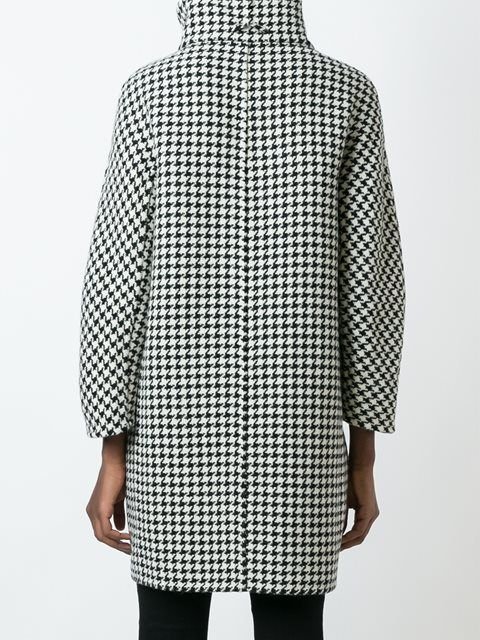 Herno houndstooth pattern coat