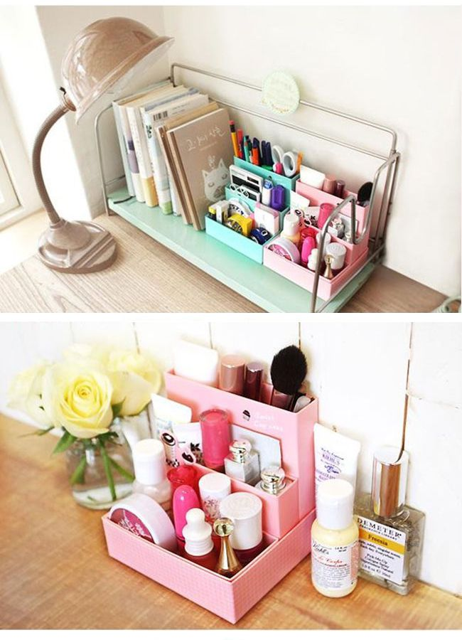 Cute and inexpensive makeup storage ideas & Cute and inexpensive makeup storage ideas | home | Pinterest ...