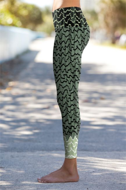 513570256bbb3 Om Shanti Clothing -- eco-friendly performance leggings. Sage ribbons  design. Made in US.