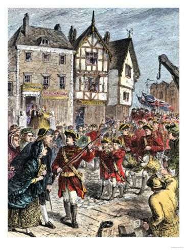 American History Art Print NEW POSTER Colonial Boston