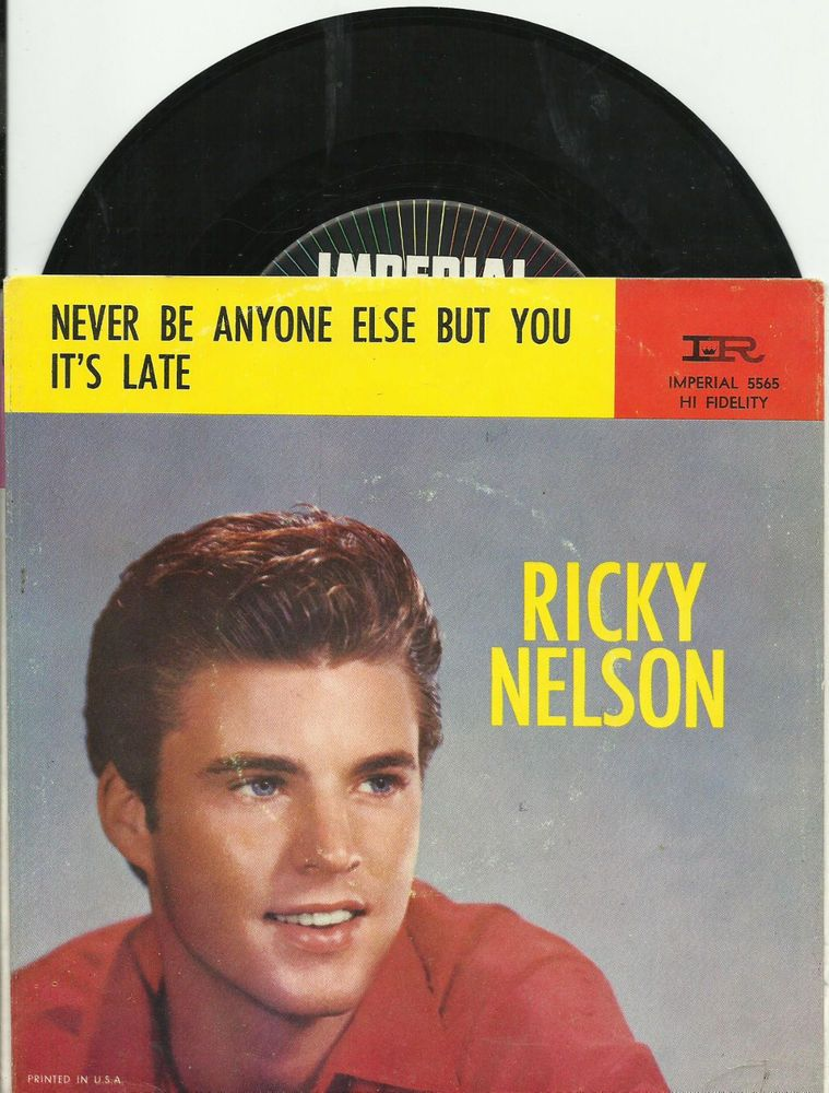 Lyric rev fc barnes lyrics : RICKY NELSON Its Late ROCKABILLY BOPPER OLDIES 45 RPM RECORD PS ...