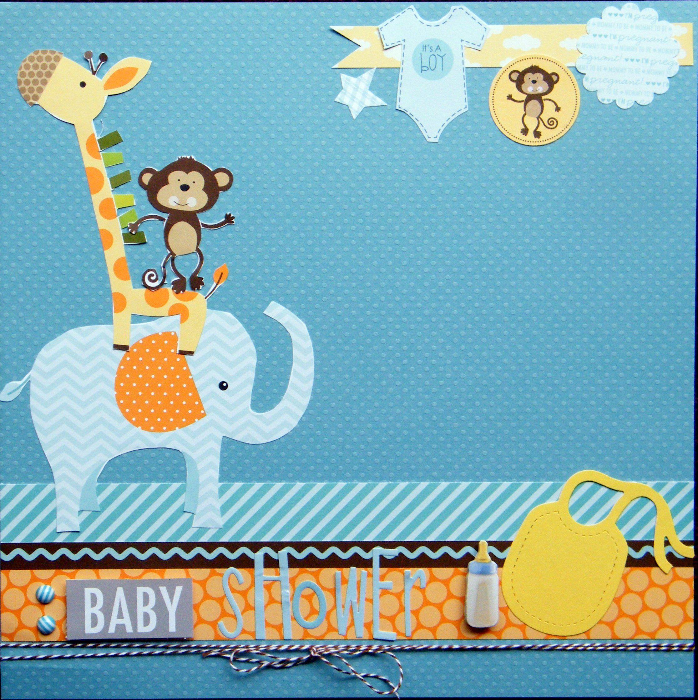Jungle scrapbook ideas - Baby Shower Scrapbook Com
