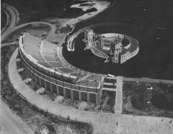 Jones Beach Theatre In Its Original Incarnation Before The Moat Was Covered With Floor Seating