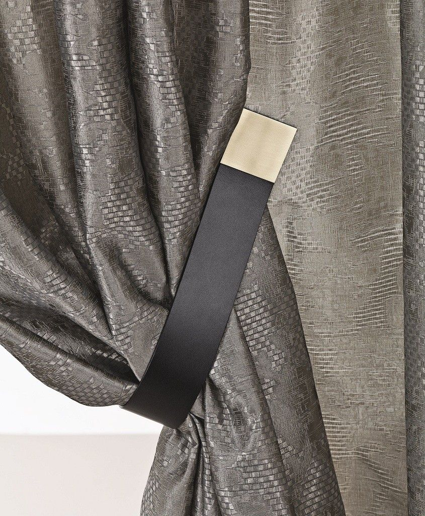 Gold Tipped Leather Curtain Tie Back #tiebacksforcurtains