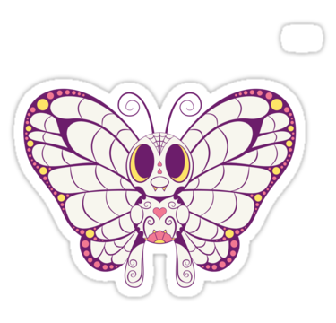Butterfree Pokemuerto Pokemon Day Of The Dead Mashup By Abowersock Pokemon Coloring Pages Pokemon Coloring Colorful Drawings