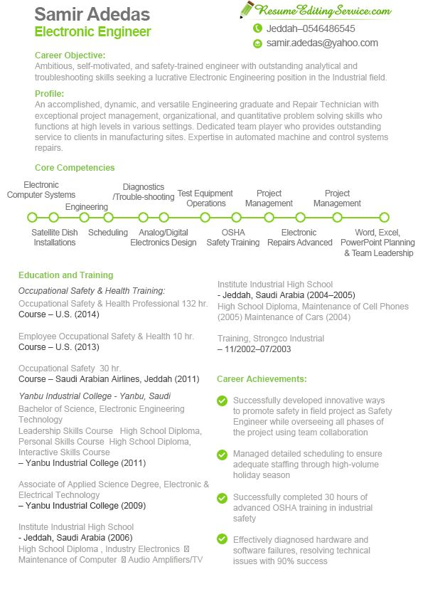 Electronic engineer resume sample see more samples here   www