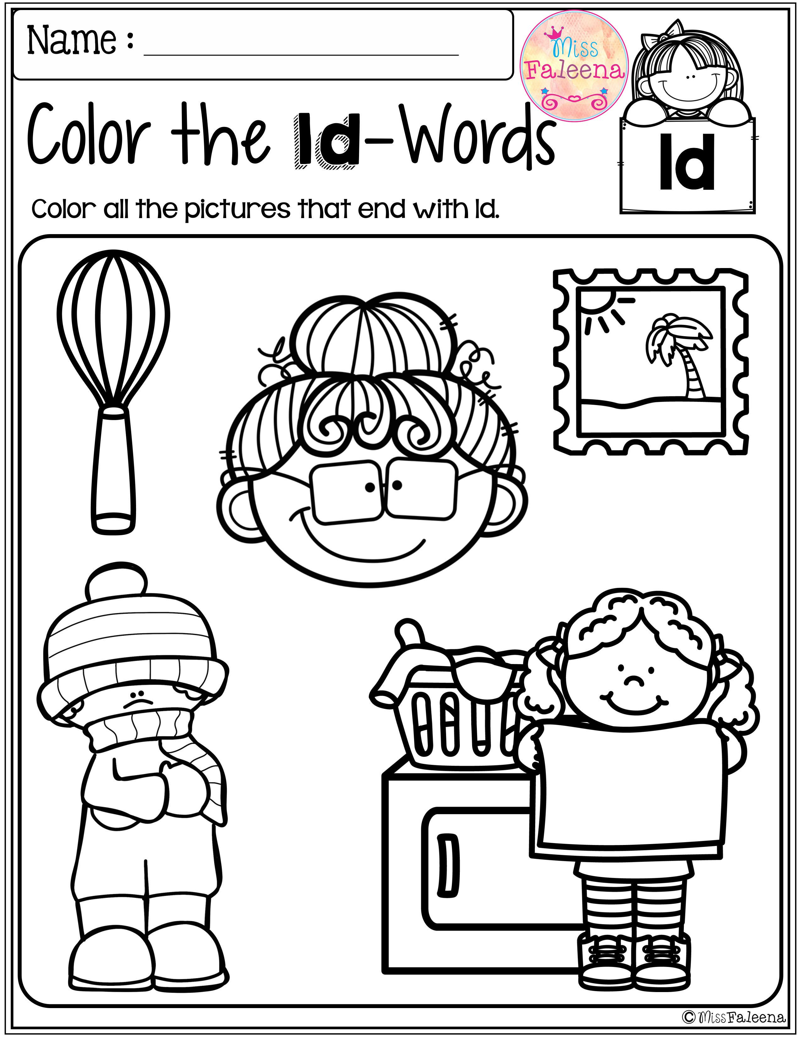 Free Ending Blends Activities
