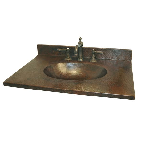 Sedona 25 Quot Hand Hammered Copper Vanity Top With Integral