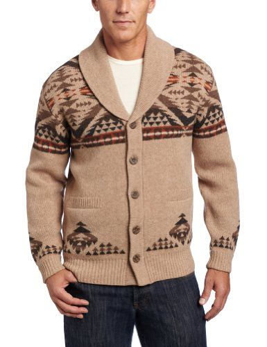 ae829006f9 Amazon.com  Pendleton Men s Diamond Desert Shawl Collar Cardigan  Clothing