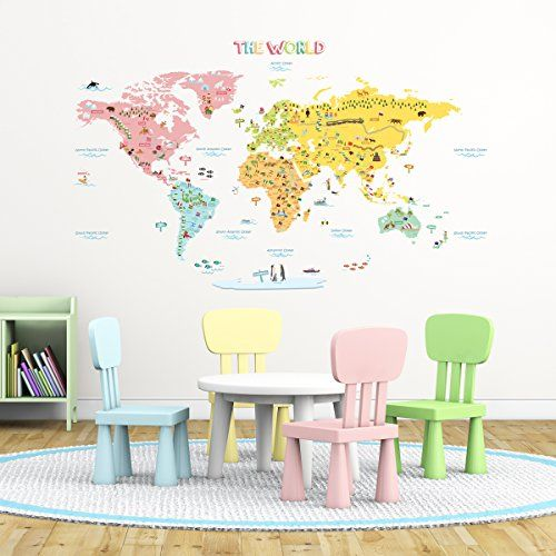Decowalldlt1616the world map peel stick wall decals stickers xlarge decowalldlt1616the world map peel stick wall decals stickers xlarge read more at the image link noteamazon affiliate link gumiabroncs Gallery