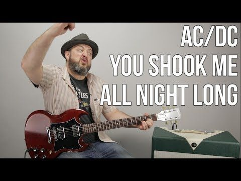 Youtube Acdc You Shook Me All Night Long Lesson Guitar