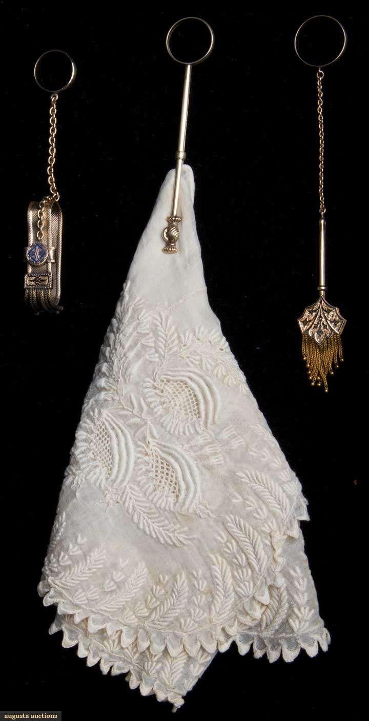 i love historical clothing: victorian handkerchief holders