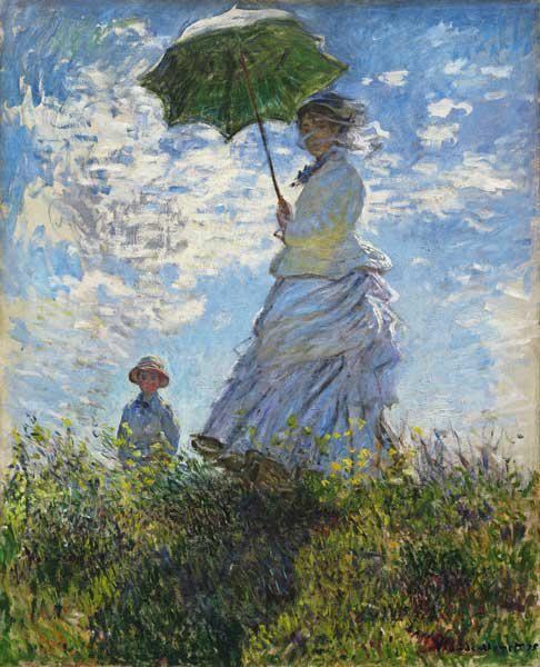 Claude Monet Frau Mit Sonnenschirm Madame Monet Mit Ihrem Sohn