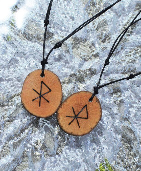 54cfe499b5993 Love Talisman Viking Amulet Rune Necklace Attract Love Bindrune ...