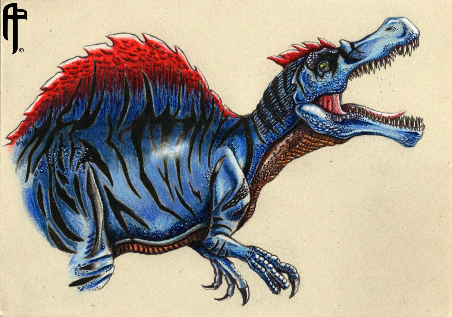 jurassic world the game spinosaurus lvl 40 drawing by appaleoart on