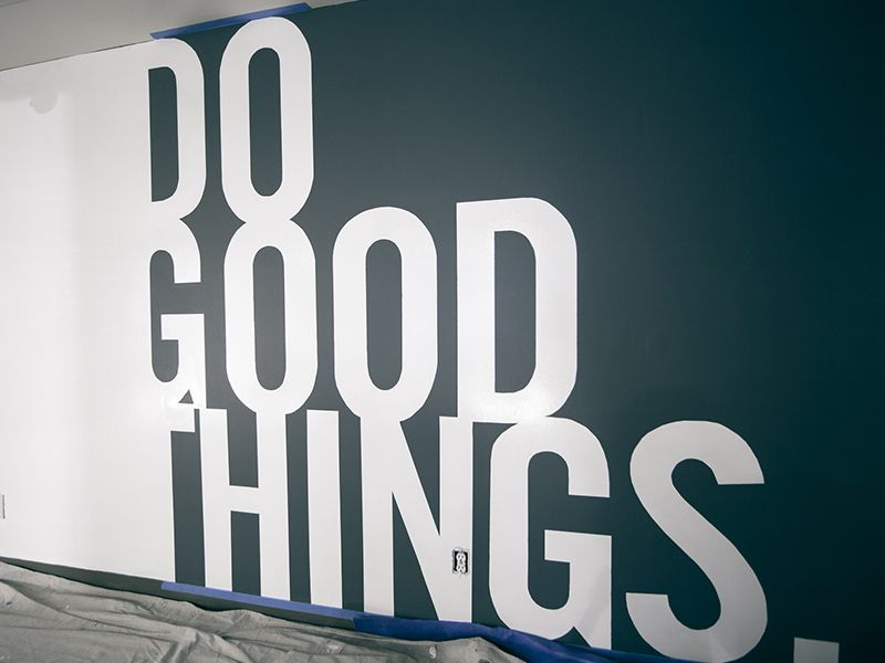 Do Good Things Office Wall Design Office Wall Art Office Interior Design