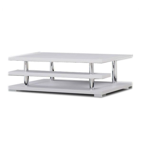 Armani Lowline Modern Coffee Table 3 Tier White   JUST MODERN FURNITURE