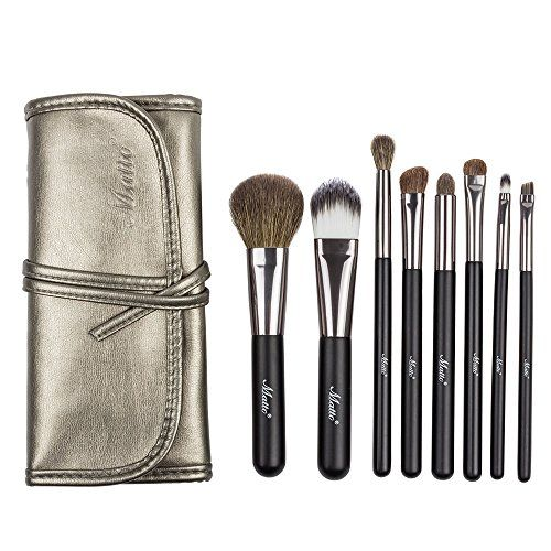 Matto Goat Hair 8 Piece Travel Makeup Brush Set With Bag Want To Know More Click On The Image Travel Makeup Brushes Makeup Brush Set It Cosmetics Brushes