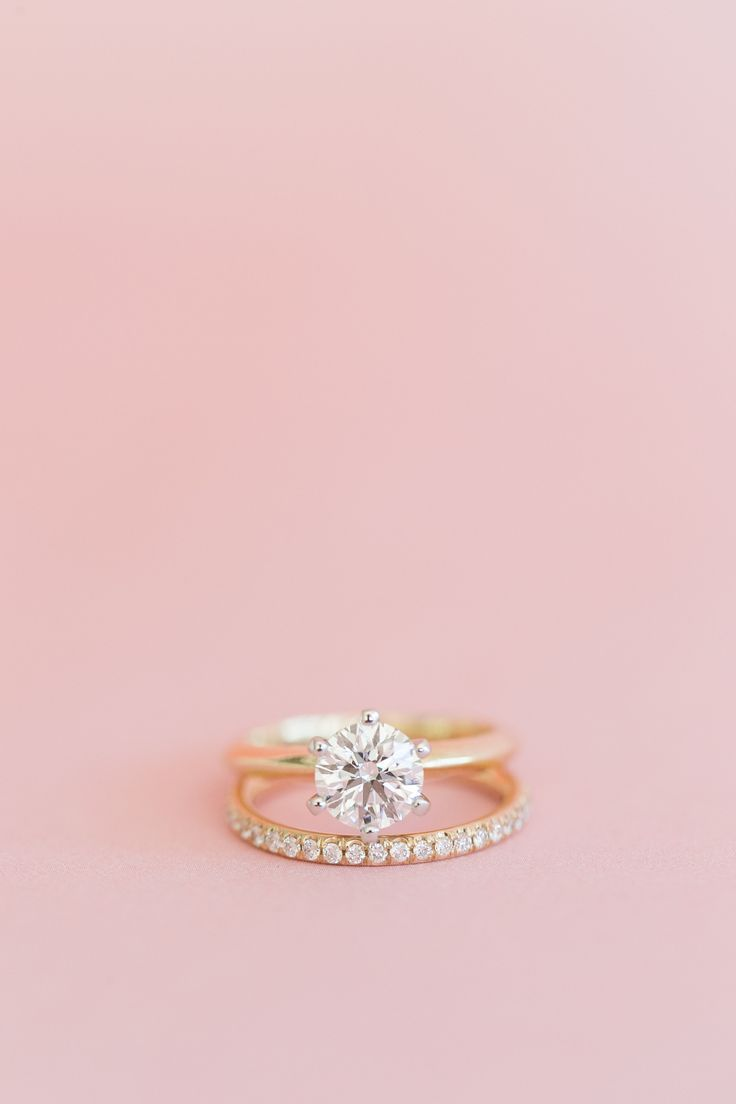 Beautiful gold engagement + wedding ring | Wedding Rings | Pinterest ...