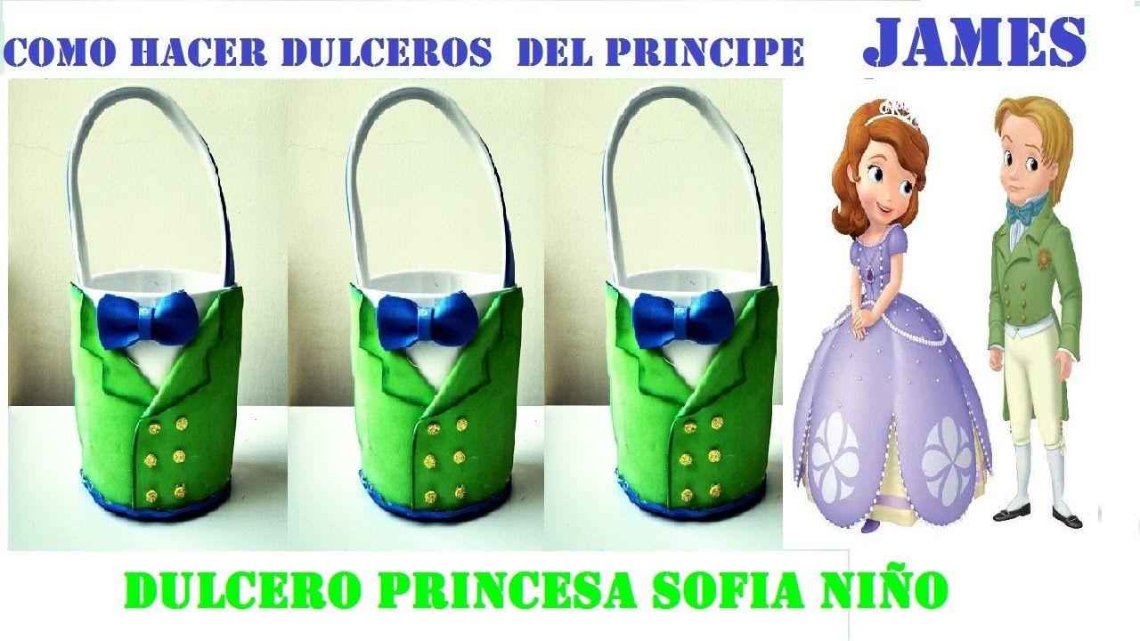 COMO HACER DULCERO PRINCESA SOFIA NÑO /PRINCIPE JAMES